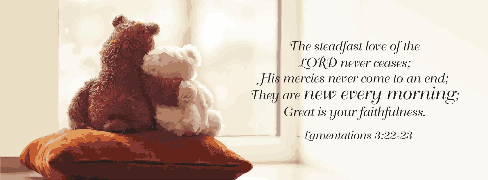 Lamentations 3:22–23